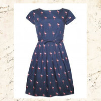 50's Retro Flamingo Dress