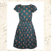 60's Retro Fox Belt Dress
